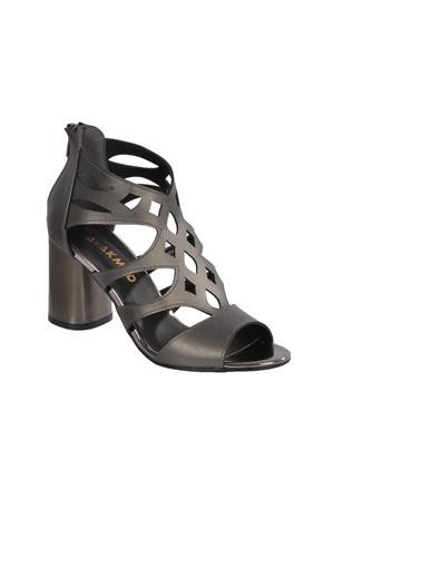 Maje 9837 Pudra Kadın Topuklu Ayakkabı Gümüş
